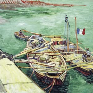 Quay with Sand Barges, August 1888, oil on canvas, 55 x 65 cm, Folkwang Museum, Essen (F449)
