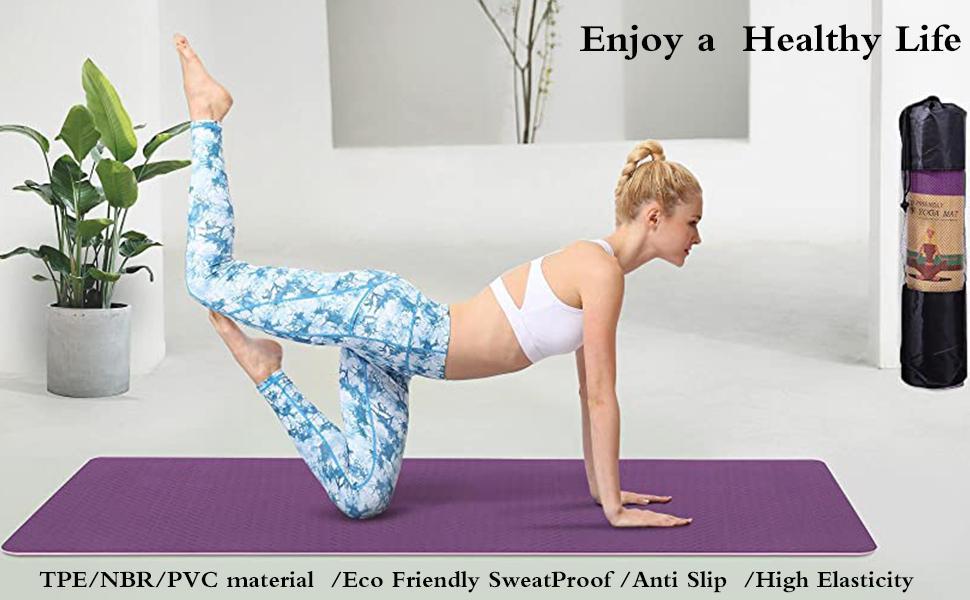 Healthy yoga mat