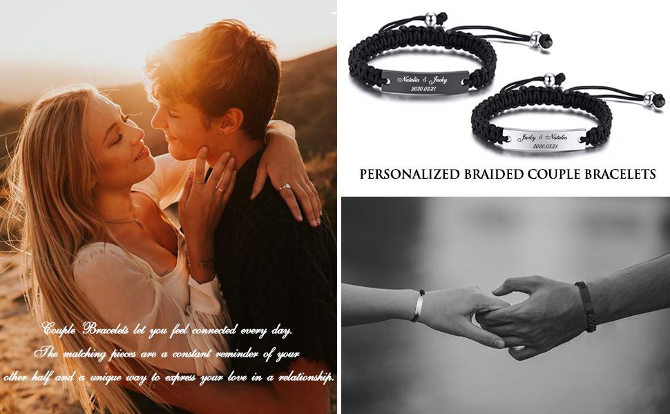 personalized braided bracelet,personalized couple bracelet