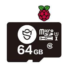 Raspberry Pi OS 64GBのMicroSDHCカードには
