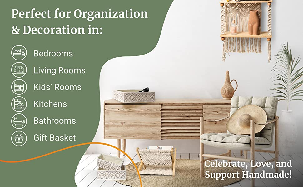 Perfect for Organization amp; Decoration in: Bedrooms, Living Rooms, Kitchens, etc.
