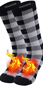 Winter Warm Thermal Men Women Thick Insulated Heated Fur Lined Fuzzy Heavy Crew Socks