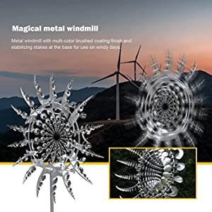 Kinetic Energy Metal Wind Spinner for Gardens and Terraces