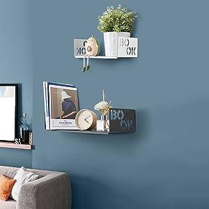 Living Room Floating Shelves