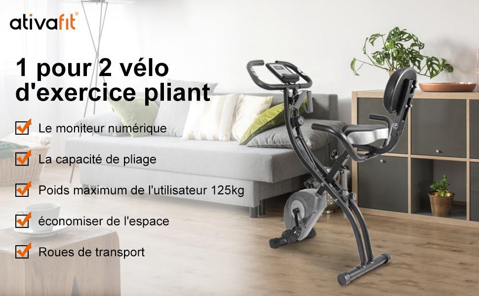 vélo d'appartement ATIVAFIT
