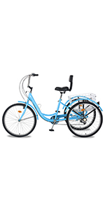Sky blue mountain tricycle