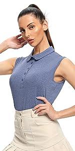 5 Button up Sleeveless Golf Shirts