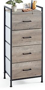 3 Drawer Dresser Nightstand Rustic Towe Living Room  Bedroom Hallway