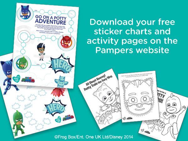 Potty training encouraging and rewarding sticker charts