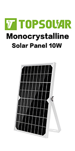 Topsolar 10W 12V Solar Panel Trickle Charger Battery Maintainer Kits