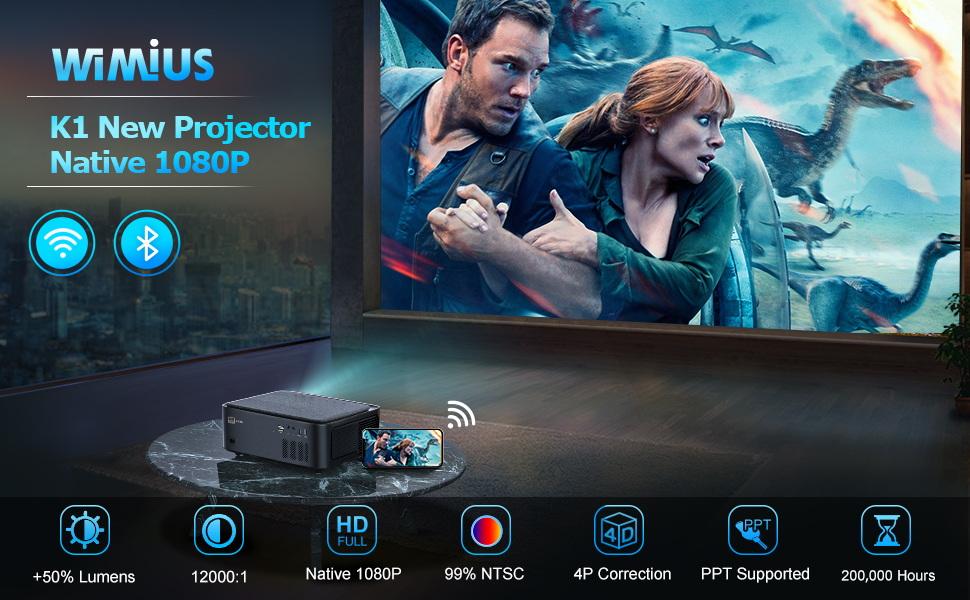 WiMiUS Projector 10000L