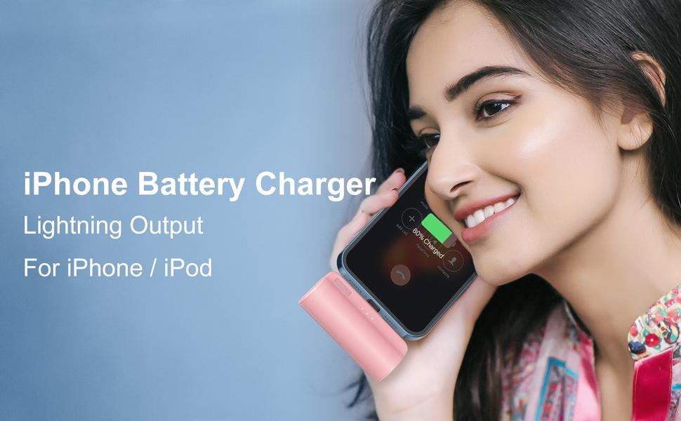 portable charger power bank for iPhone 11 12 6 7 8 XR