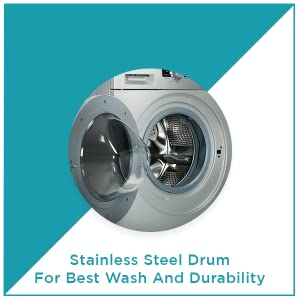 amstrad front load fully automatic washing machine 6kg 7kg stainless steel drum