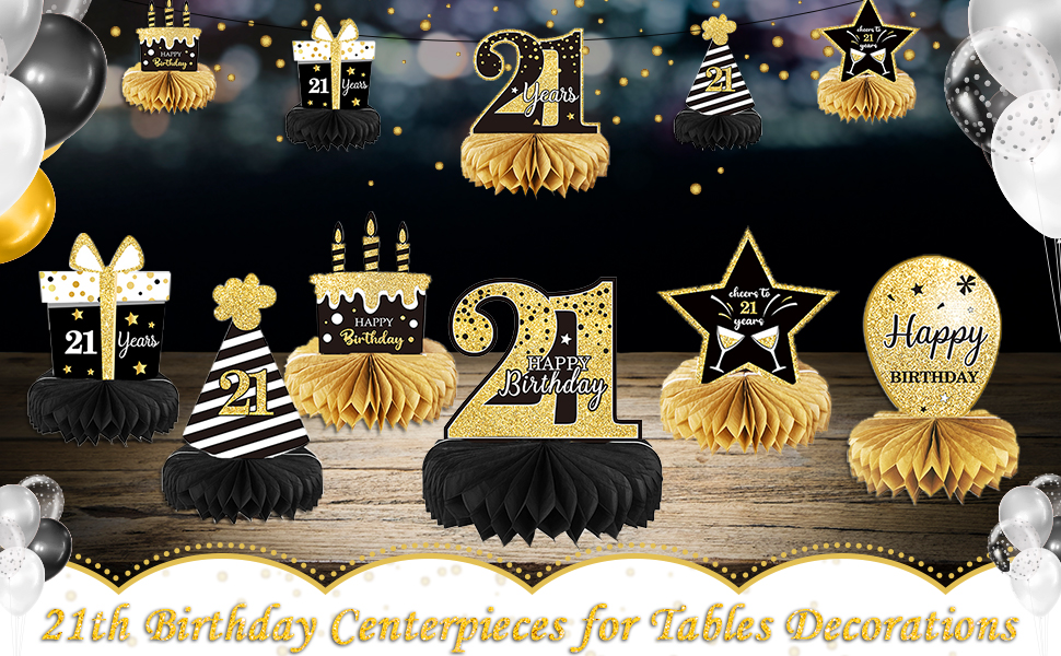 21st Birthday Centerpieces for Tables Decorations