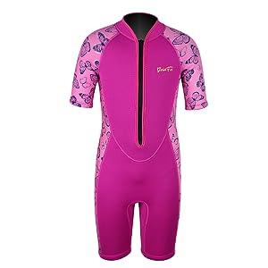 girls wetsuit shorty