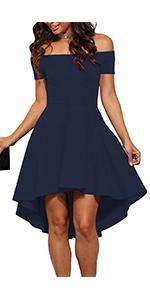Off Shoulder Cocktail Dress for Women