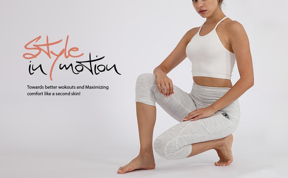 ODODOS Womens High Waist Yoga Capris with Pockets