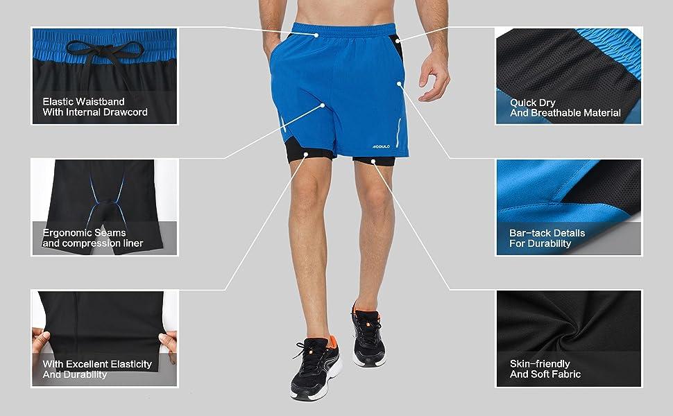 mens running shorts 2 in 1