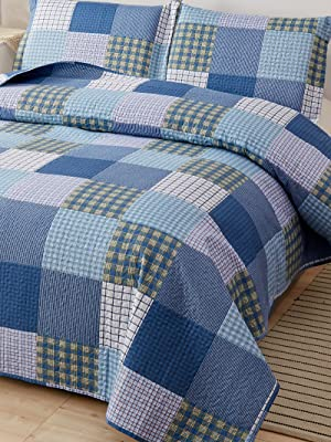 plaid bed cover