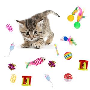 24Pcs Cat Toys Kitten Interactive Pet Toys Assortments