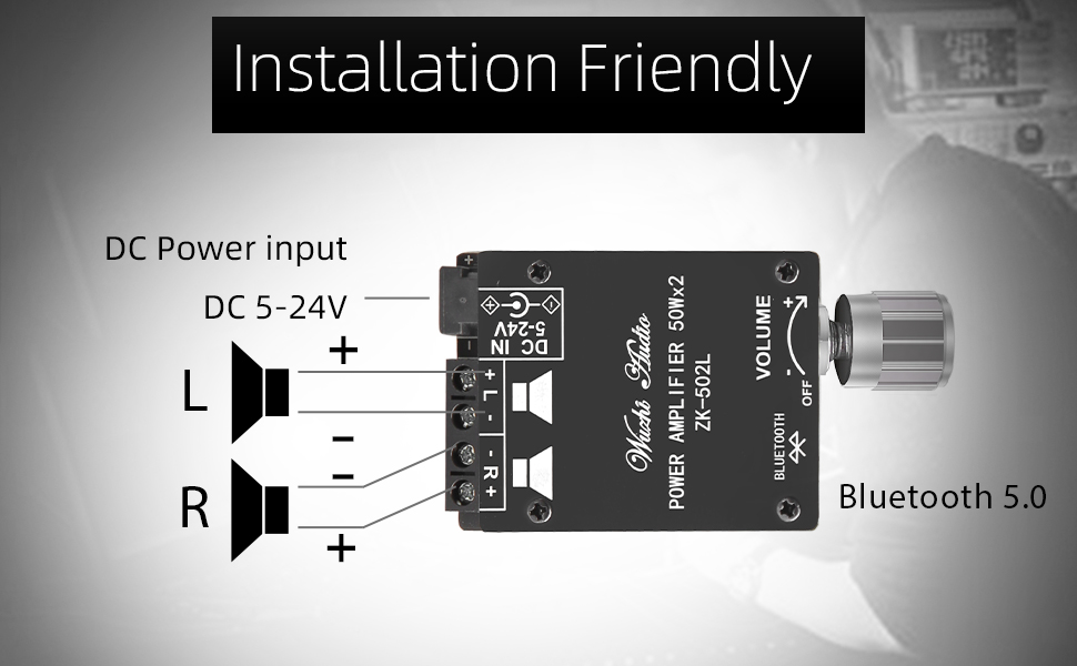 502L Bluetooth amplifier