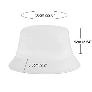 size of the bucket hat