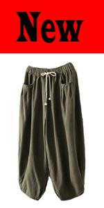 MinibeeCasual Cotton Linen Blouse pants