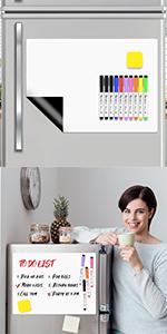 Magnetic Dry Erase Board for Fridge