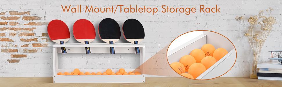 Ping Pong Rack table tennis storage holder paddles display rack
