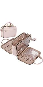 NISHEL Fully Open Travel Toiletry Bag