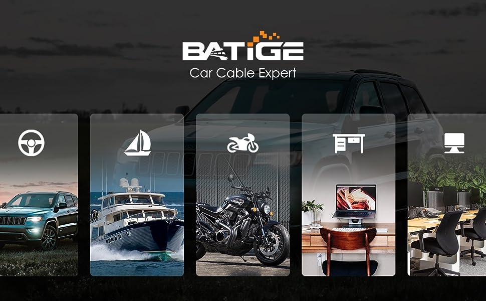 BATIGE - CAR MOUNT FLUSH CABLE - Application