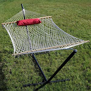 rope hammock on stand without pad