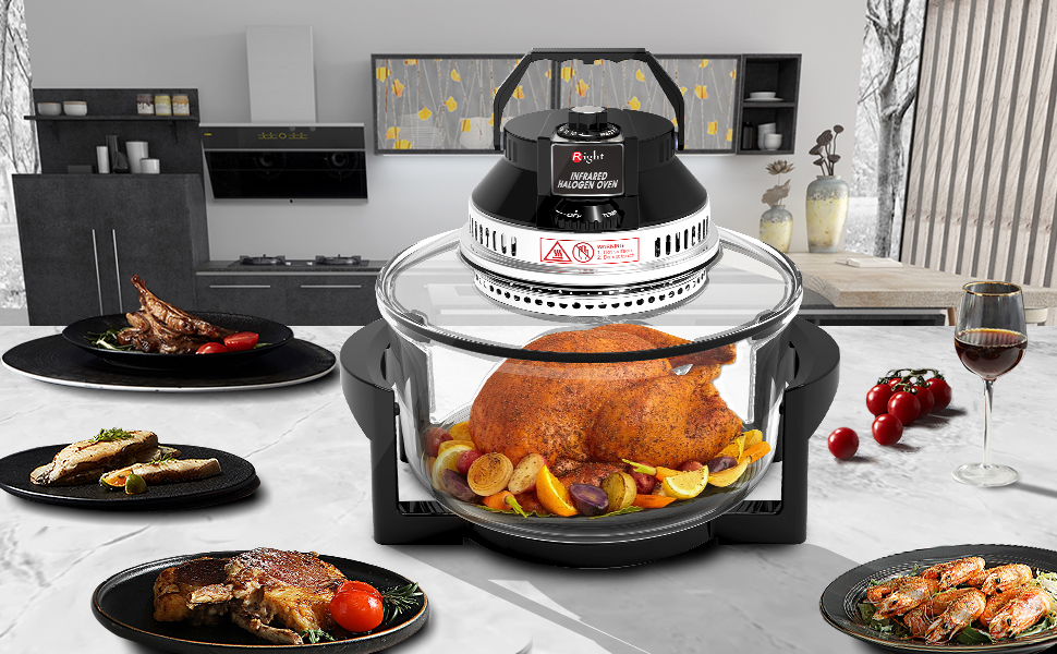 halogen oven Air fryer oven convection oven infrared oven oil less oven toast oven