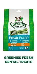 Greenies Fresh Dental Treats, Bad Dog Breath, Fresh Breath, Minty Flavor, Dog Mints