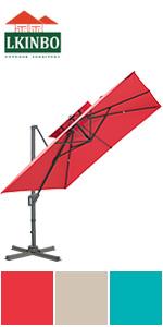 10X10FT Umbrella Red