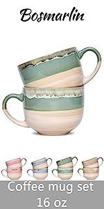 latte coffee mug set of 2