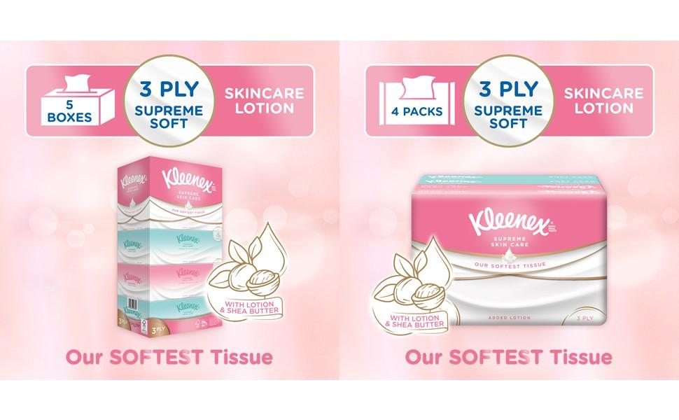 Kleenex Supreme Skincare Facial Tissues