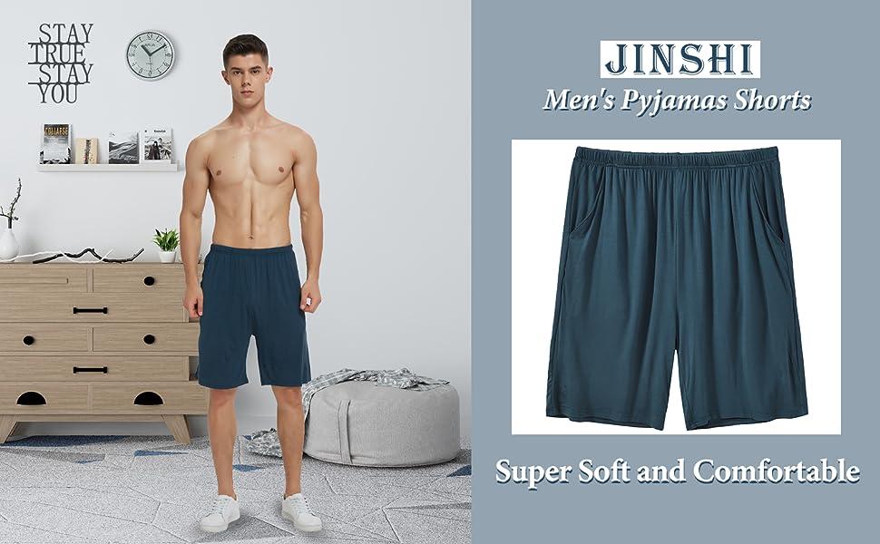 JINSHI Men's Modal Pyjamas Shorts