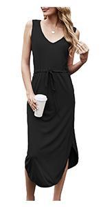 midi dress for women sleeveless