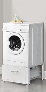 Socle pour machine à laver, support pour sèche-linge, socle pour sèche-linge.