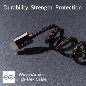 Cable twisted like a spring