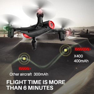 camera drone with long flight time and two batteries
