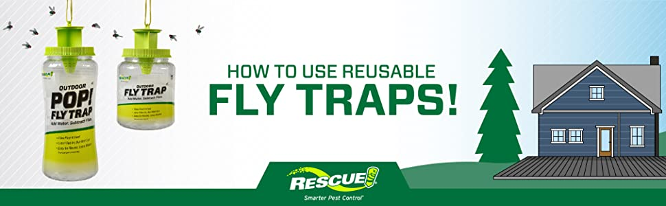 how to use rescue reusable fly traps