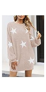 Fuzzy Oversized Sweater Dress
