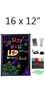 neon writing board