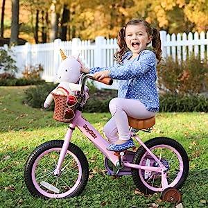 pink girls bike
