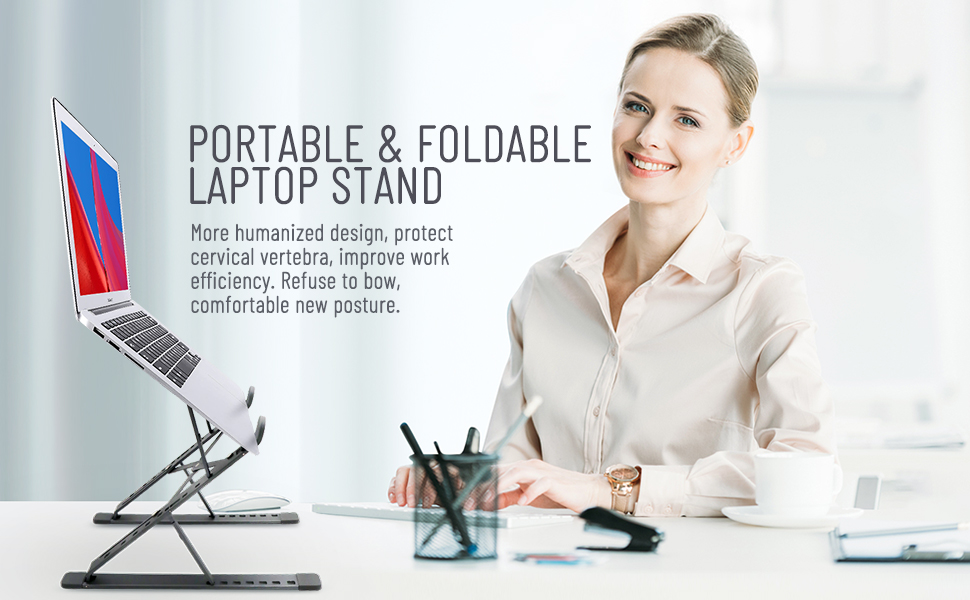 Foldable computer stand
