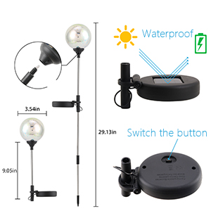 decorative outdoor solar lights,outdoor led garden balls,outdoor solar lights cracked glass