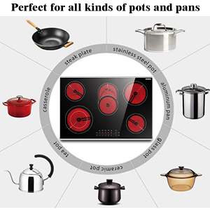 electric cooktop 220v