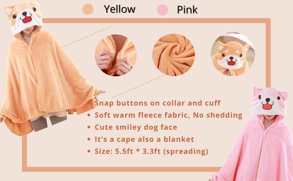 fleece dog cape blanket